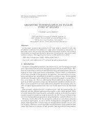GEOMETRIC INTERPOLATION BY PLANAR CUBIC G1 SPLINES
