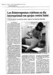 l blibros - Col·legi de Fisioterapeutes de Catalunya