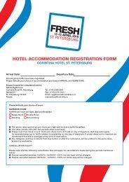 HOTEL ACCOMMODATION REGISTRATION FORM - fresh
