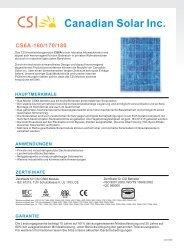 Canadian Solar Inc. - Gartenversand Omega