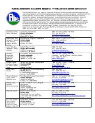 FDLRS Managers Contact List - Florida Department of Education