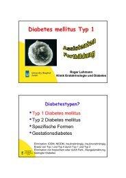 Diabetes mellitus Typ 1 - Fortbildung