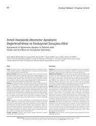 ‹nmeli Hastalarda ‹deomotor Apraksinin De ... - FTR Dergisi