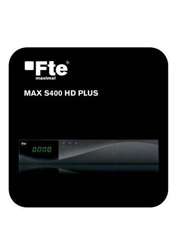 MAX S400 HD PLUS_EN_v1.1.indd - FTE Maximal