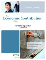 Economic Impact Executive Summary - Florida Department of ...