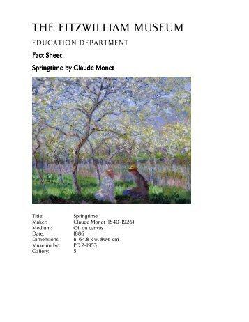Education Resources - Factsheets (pdf) - The Fitzwilliam Museum