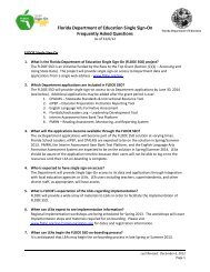 Florida Department of Education Single Sign-On Frequently Asked ...