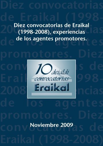 Diez convocatorias de Eraikal - Garraioak - Euskadi.net