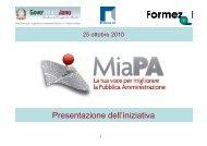 Presentazione dell'iniziativa (PDF) - Dipartimento Funzione Pubblica