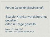 Forum Gesundheitswirtschaft - Forums Gesundheitswirtschaft Basel