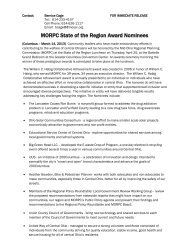 MORPC State of the Region Award Nominees - Franklin County, Ohio