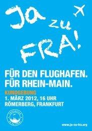 Ja zu FRA! - Flughafen Frankfurt