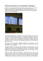 Netzwerkausbau am Flughafen Stuttgart