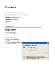 Driver Installation Instructions - Fujifilm USA