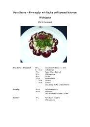 Rote Beete – Birnensalat mit Rauke und karamellisierten Walnüssen