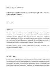 Federalism and distributive conflicts: competition among Brazilian ...