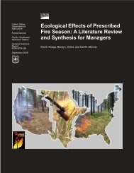 Ecological Effects of Prescribed Fire Season: A Literature Review ...