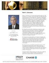 Speaker Biographies - Foley & Lardner LLP