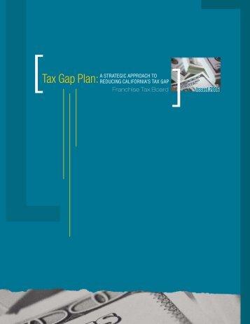 Tax Gap Plan - Franchise Tax Board - California Franchise Tax Board