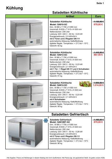 8. Saladeten - Gastro-Ausverkauf.de