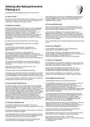 Satzung des Naturparkvereins Fläming e.V. - Naturpark Hoher ...