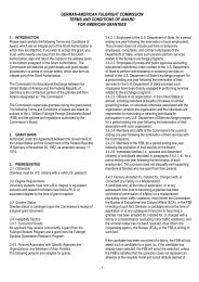 Terms & Conditions of Award - Fulbright-Kommission