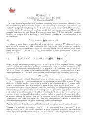 Wykład 5 i 6 - kowektory, przestrzeń kostyczna
