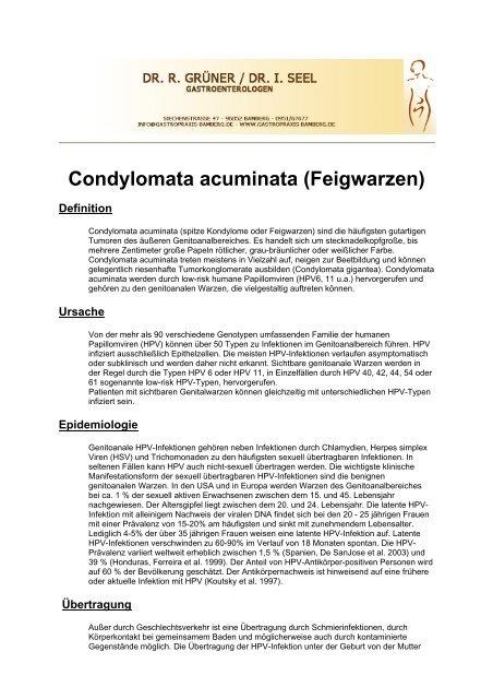 condylomata acuminata geburt îndepărtarea verucilor genitale cu atât mai bine