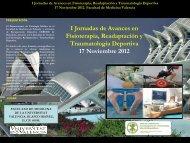 I Jornadas de Avances en Fisioterapia, Readaptación y ...