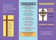 Put križa i raspored bogoslužja kroz Veliki tjedan