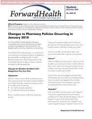 ForwardHealth Update 2009-89 - ForwardHealth Portal
