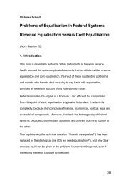 Problems of Equalisation in Federal Systems – Revenue ...