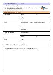 Formular für Organisationen - Freiwilligenagentur Magdeburg