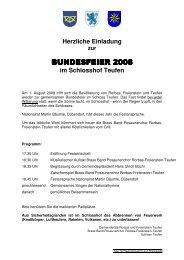 bundesfeier 2008 bundesfeier 2008 - Gemeinde Freienstein-Teufen