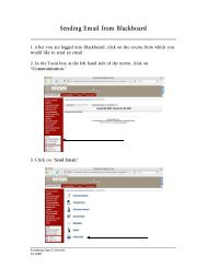 Sending Email from Blackboard - Frostburg State University
