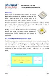 Thermal Management Of Power LED