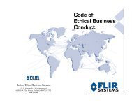 Code of Ethical Business Conduct - Flir Systems