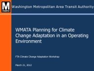 WMATA Planning for Climate Change Adaptation in an Operating ...