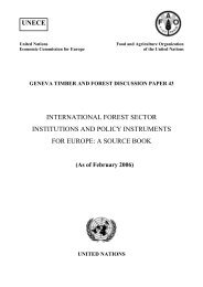 International Forest Sector Institutions and Policy Instruments for ...