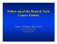 Follow-up of the Head & Neck Cancer Patient