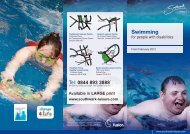 Swimming for people with disabilities brochure - Fusion Lifestyle