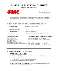 FLONICAMID 50SG INSECTICIDE - FMC Corporation