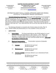 Criminal Justice Act Information Sheet and Worksheets