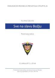 zbirke pjesama, slike, makete - Franjevačka provincija Presvetog ...