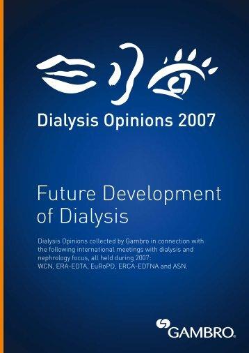 Future Development of Dialysis - Gambro