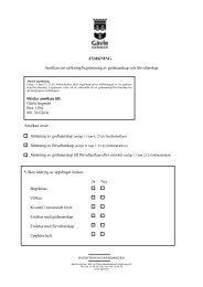 JÄMKNING Ansökan om utökning/begränsning av ... - Gävle kommun