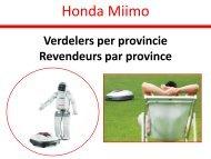 Honda Miimo - Verdelers per provincie (PDF, 0.3 MB)