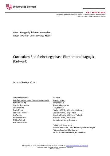 Entwurf - Universität Bremen