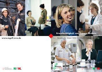 Erwerbstätigkeit von Frauen fördern. - frauennrw.de