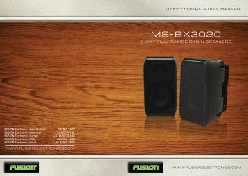 MS-BX3020 - Rock The Boat Audio